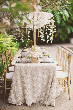 navy white chair ribbons //  event styling by Southern Grace Events and Gathering, photo by J.Layne Photography