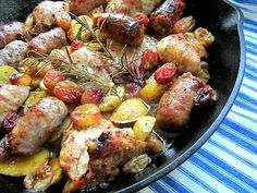 Chicken sausage potatoes and grapes one skillet hot meal Stacey Snacks