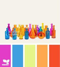 Botellas - super vibrant color palette