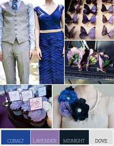cobalt, lavender, midnight & dove. this is my dream color palate :)