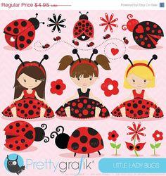 40% OFF SALE Ladybug clipart commercial use, ladybug vector graphics, digital clip art, digital images - CL617