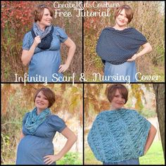 DIY Knit Infinity Scarf and Nursing Cover - Free Pattern!