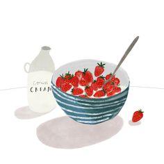 It's strawberry and cream season! Hoorah :)
