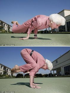 Bette Calman - The 83 year old super-yoga-granny that can put all of us to shame! Namaste!
