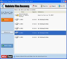 How to recover files with MiniTool Power Data Recovery, Recover files with the a freeware like MiniTool Power Data Recovery for individual and home edition