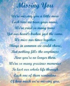 Our first holiday without you and its been so hard! You were such a great mom and grandma! We miss and love you!