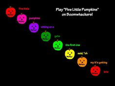 Learn Me Music: Pitch Lesson with Boomwhackers®: Five Little Pumpkins