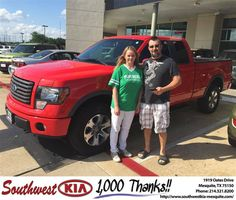 https://flic.kr/p/GgMGj8   Happy Anniversary to Christopher on your #Ford #F-150 from Clinton Miller at Southwest Kia Mesquite!   deliverymaxx.com/DealerReviews.aspx?DealerCode=VNDX