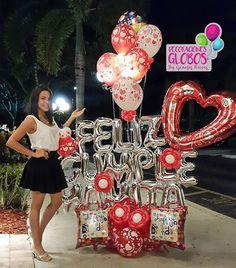Un aplauso por esos hijos que tienen unos sentimientos maravillosos. Esta Hermosa chica hizo del cumpleaños de su Mamita fuese innolvidable, la lleno de detalles, sorpresa y sobre todo mucho amor. ¡Felicidades! . . Contacto: MIAMI: 786-779-75-23 CARACAS : 0424-168-45-70 . . . Cc Galerias Avila Nivel acceso DECORACIONES GLOBOS Tienda 02127503430 #bygenesisnieves #aprendeydecora #regalaysorprende . . . #balloon #balloons #art #balloonsculpture #talentovenezolano #diseñovenezolano #hechoenve... Balloon Display, Balloon Gift, Valentines Balloons, Birthday Balloons, Candy Bouquet, Balloon Bouquet, Deco Ballon, Birthday Delivery, Birthday Decorations For Men
