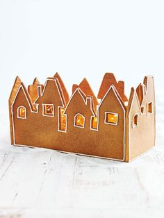 gingerbread village. This could be cool if made long and narrow, it would be a nice centerpiece for our dinner table.