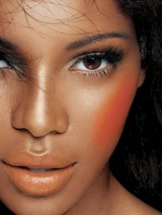 2014 summer makeup looks for black women. African American + peach color..YES!