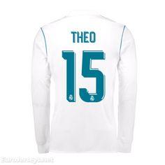 85e34a93ad1da  19 Real Madrid 2017-18 Home Theo 15 Long Sleeved Football Shirt Soccer  Jersey Kit