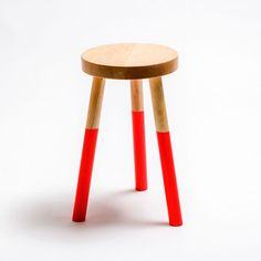 Holy Stool Medium Neon Red, by Francois Chambard Furniture Makeover, Cool Furniture, Red Dip Dye, Dip Dyed, Three Legged Stool, How To Make Bacon, Industrial Restaurant, Workspace Design, Museum