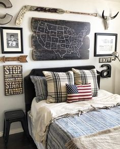 Boy's bedroom gallerywall