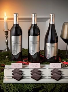 Fine wine specialist Joey Krueger ( pairs three holiday-perfect red wines with our favourite Lindt Excellence dark chocolate bars. Head to the link in our bio for tasting notes and how to prepare the perfect pairing station. Chocolate Wine, Dark Chocolate Bar, Chocolate Lovers, Red Wines, Wine O Clock, Cabernet Sauvignon, Wine And Spirits, Fine Wine, Christmas Holiday