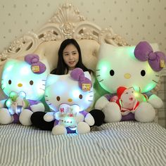 ==> [Free Shipping] Buy Best Hello Kitty Doll Music luminous KT cat plush toy LED Plush Dolls Puppets kawaii brinquedo menina music light spielzeug Online with LOWEST Price | 32816727599