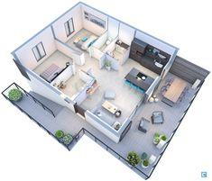 Small House Interior Design, Small Apartment Design, Apartment Layout, Modern House Design, Sims House Plans, House Layout Plans, House Layouts, House Floor Plans, Home Design Floor Plans