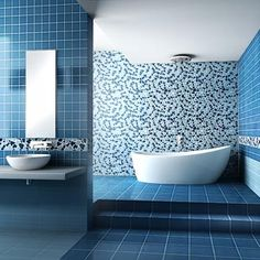 verniciare piastrelle cerca con google blue tile bathroomsmodern bathroom tilebathroom tile designsbathroom