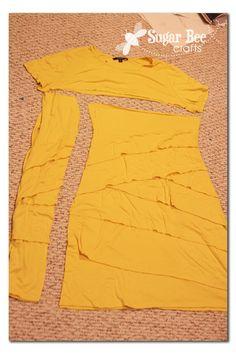 Dress to Maxi Skirt - knit refashion