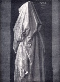 This Durer drapery study is a great rendition in realism