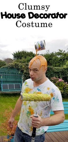 Floating paint tin illusion costume.