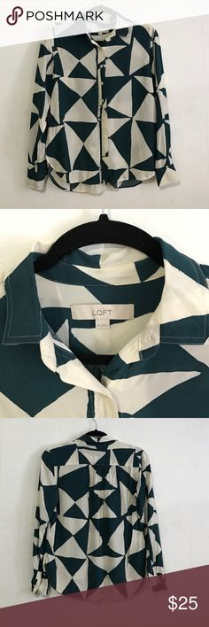 Loft blouse Loft blouse. Used only once. No stains, no holes, absolutely clean. Bundle another item to save 10% LOFT Tops Blouses