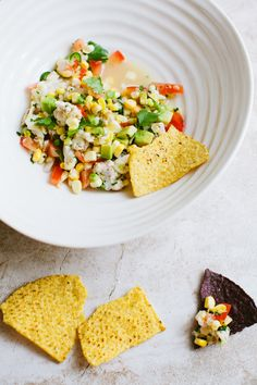Shrimp + Sweet Corn Ceviche from @athoughtforfood