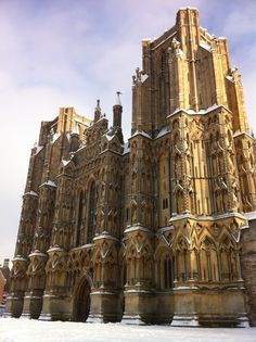 St Andrew's Cathedral (Wells Cathedral) in Wells, Somerset during the winter
