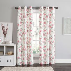 Pair! Victoria Classics Rebecca Floral 84-inch Grommet Top Room Darkening Curtain Panel Pair - Overstock.com