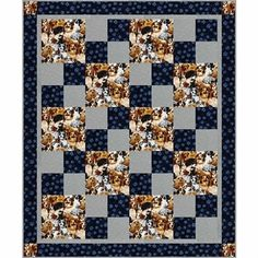 If you are looking for a quilt pattern that is Sew Quick, this is the one for you. With a finished size of a whopping 48 x 58 inches this complete quilt top, including the border and the binding. Great project for a beginner. Lap Quilt Patterns, Beginner Quilt Patterns, Beginner Quilting, Simple Quilt Pattern, Crochet Quilt Pattern, Owl Patterns, Big Block Quilts, Lap Quilts, Panel Quilts