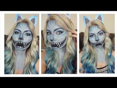 DIY Cheshire Cat makeup with this tutorial.