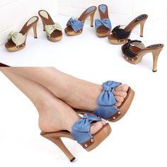 NK 4150   Platform high heels Mule Sandals Women Shoes US 5~7.5 / AU 3~6