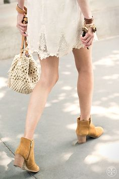 Channeling festival chic in the Tory Burch Suede Sabe #Bootie