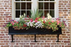 Looking for a simple, but high-impact gardening project? Consider revamping your window boxes. Beautiful gardens in miniature—that's the essential appeal of window boxes. Window Box Flowers, Window Planter Boxes, Planter Ideas, Garden Windows, Garden Boxes, Garden Projects, Garden Ideas, Beautiful Gardens, Container Gardening