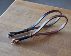 Leather Wrist Strap Red Thread by LeatherCameraStraps on Etsy