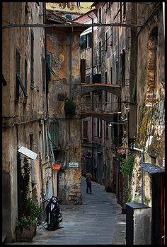 Street in Ventimiglia, Italy
