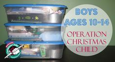 Operation Christmas Child Box for a Boy (age 10-14)