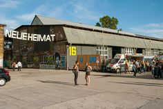 #Germany, #Berlin & the 'Kiez' #Friedrichshain: Situated in the former equipment and storage facilities of the Reichsbahnausbesserungswerk (#RAW), '#Neue #Heimat' is the place to go for great #food, good live music and extraordinary design markets.