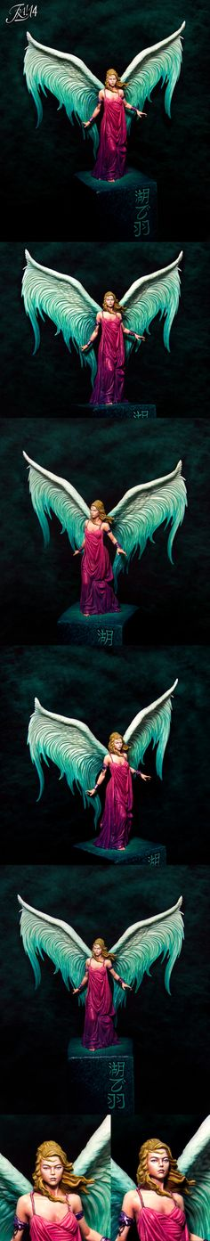 Wings over the lake (lilith) it's cool how different artists have such different takes on the same miniature