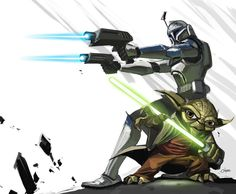 Yoda & Clone Trooper - Star Wars - Michael O'Hare