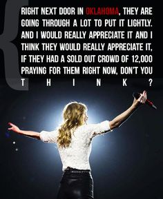 taylor swift before singing safe & sound in Austin. oh that's beautiful