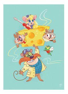 Johnny Five, Rescue Rangers, Desktop Decor, Kid Picks, 90s Cartoons, 90s Kids, Disney Art, The Magicians, Frames On Wall