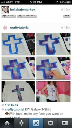 A great VBS craft/art project for teens ..This shows it painted in a galaxy print but would be pretty in a stained glass print too.