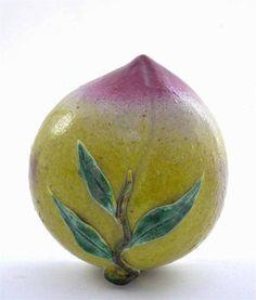 Chinese Export Famille Rose Porcelain Altar Fruit Peach 225