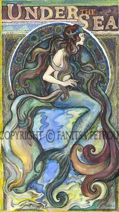 Under the Sea - a Mermaid by Fanitsa Petrou - Fantasy art galleries at Epilogue.net - Fantasy and Sci-fi at their best