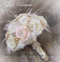 6 Stunning Wedding Palettes for Broschen Bouquets, Gold Bouquet, Feather Bouquet, Wedding Brooch Bouquets, Silk Flower Bouquets, Diy Bouquet, Bridal Flowers, Flower Bouquet Wedding, Silk Flowers