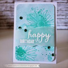 Karte mit der Blume von Create a smile (Botanical Love) Aquarelltechnik, Geburtstags-Karte, Birthday Card
