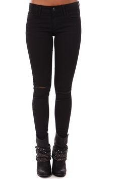 Lime Lush Boutique - Black Slashed Knee Skinny Jeans, $48.99 (https://www.limelush.com/black-slashed-knee-skinny-jeans/)