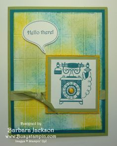 Timeless Talk with Faux Tiles by BarbaraJackson - Cards and Paper Crafts at Splitcoaststampers