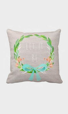 Pillow Cover Let It Be Personalized Inspirational